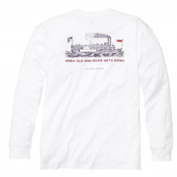 Old Man River: White Long Sleeve